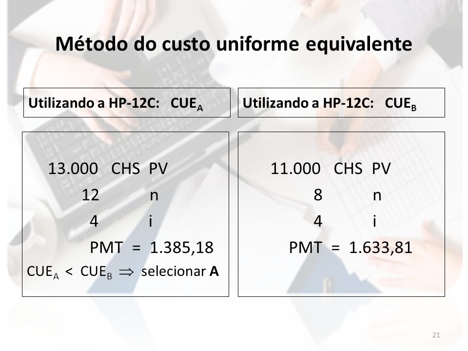 Método do custo uniforme equivalente