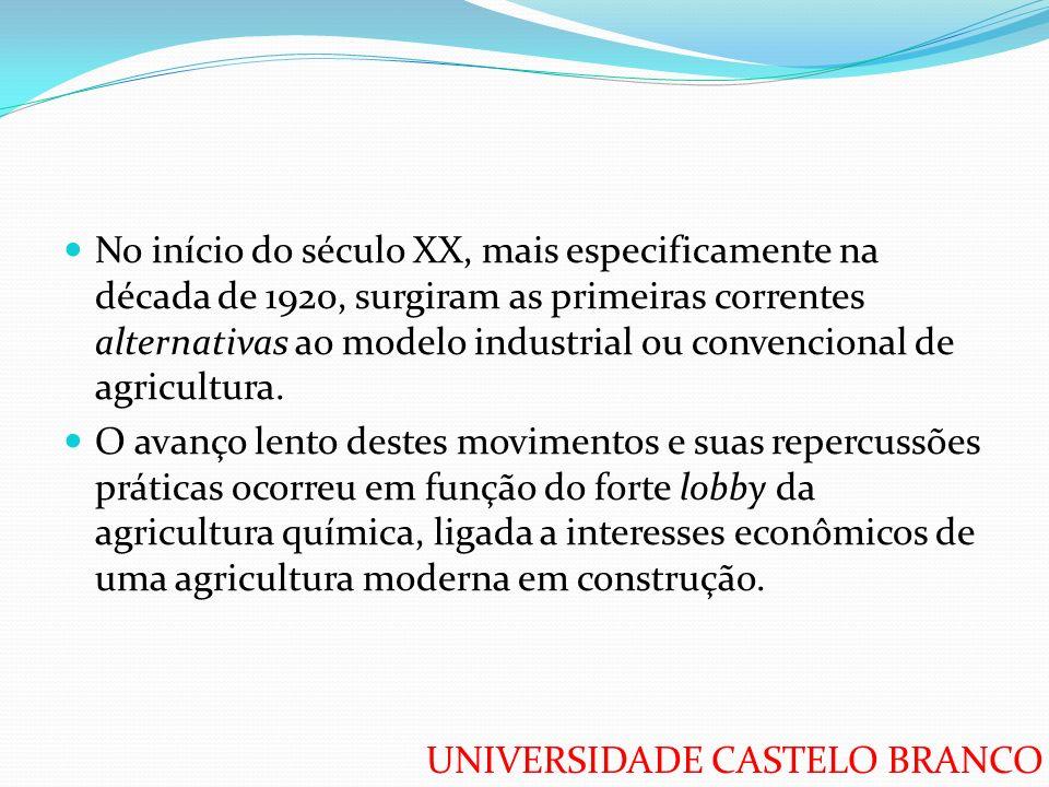 No início do século XX, mais especificamente na década de 1920, surgiram as primeiras correntes alternativas ao modelo industrial ou convencional de agricultura.
