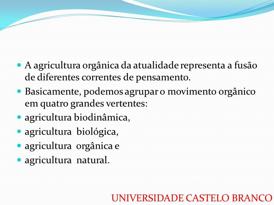 A agricultura orgânica da atualidade representa a fusão de diferentes correntes de pensamento.