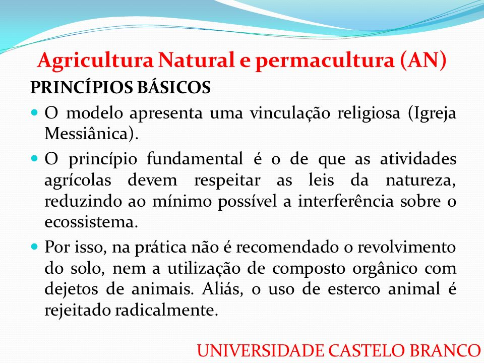 Agricultura Natural e permacultura (AN)