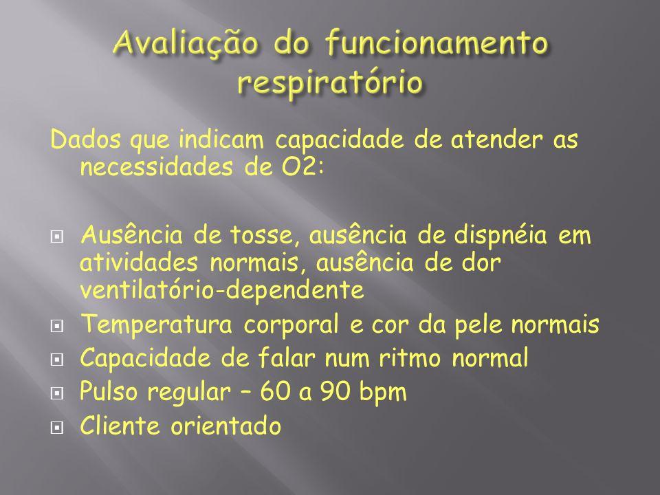 Avaliação do funcionamento respiratório