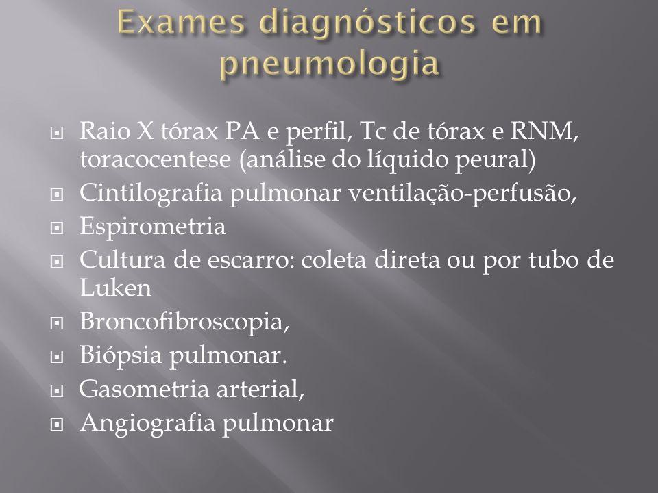 Exames diagnósticos em pneumologia