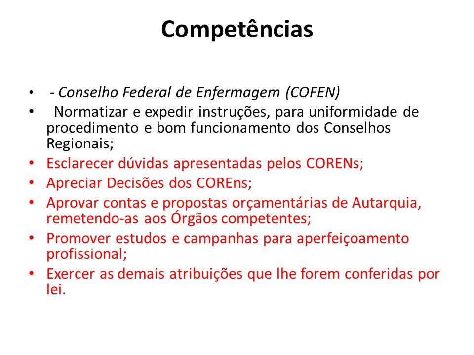 Competências - Conselho Federal de Enfermagem (COFEN)