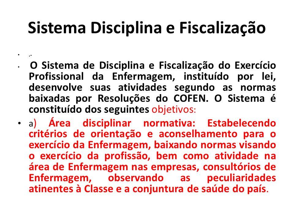 Sistema Disciplina e Fiscalização