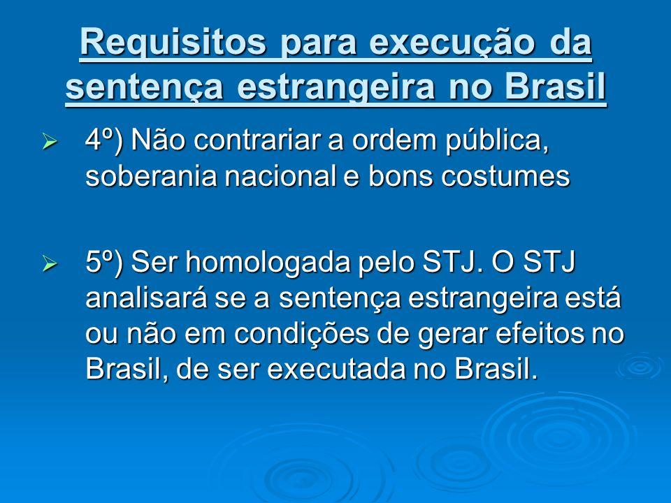 Requisitos para execução da sentença estrangeira no Brasil