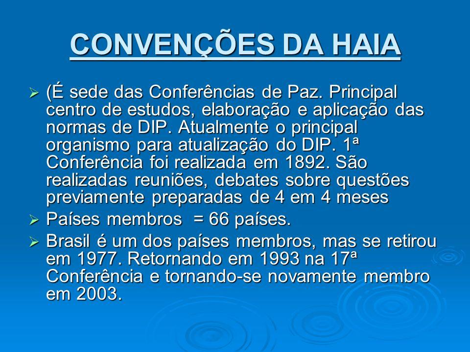 CONVENÇÕES DA HAIA