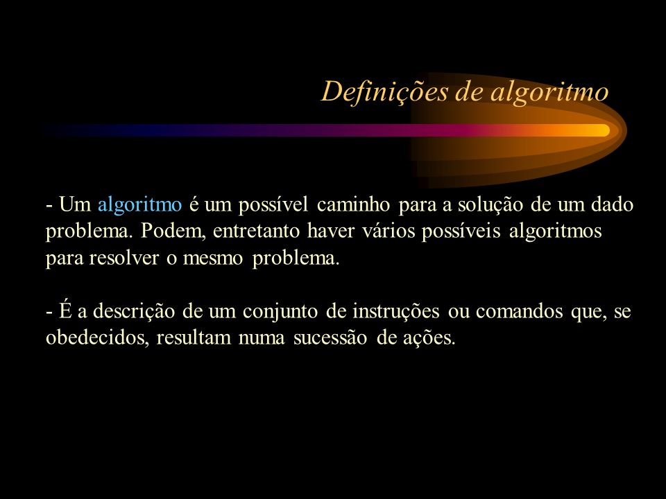 Definições de algoritmo