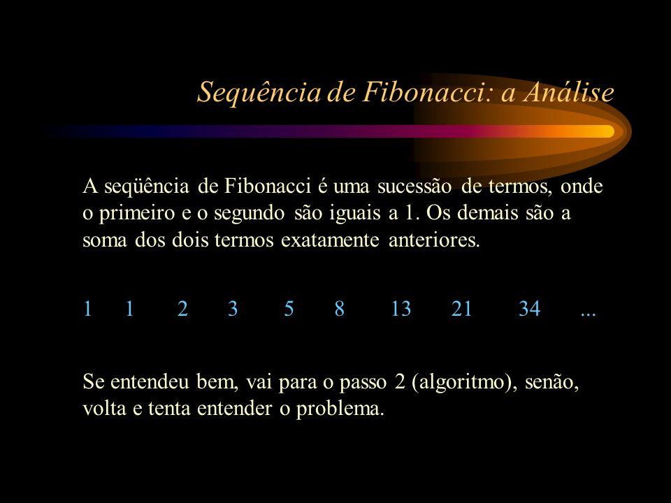 Sequência de Fibonacci: a Análise