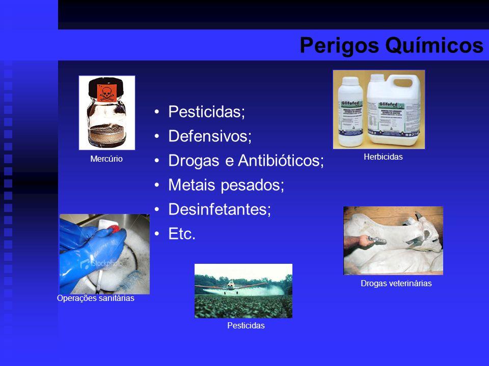 Perigos Químicos Pesticidas; Defensivos; Drogas e Antibióticos;