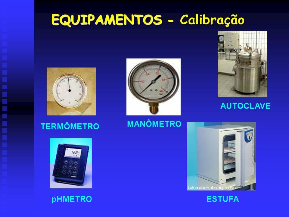 EQUIPAMENTOS - Calibração