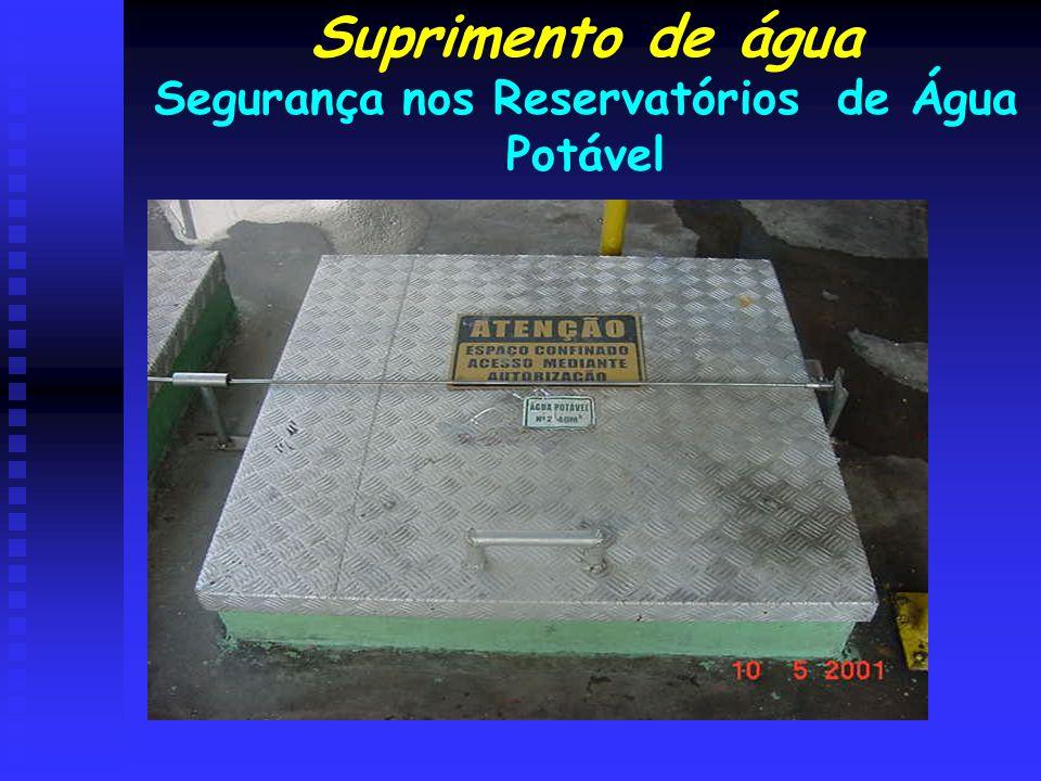 Segurança nos Reservatórios de Água Potável