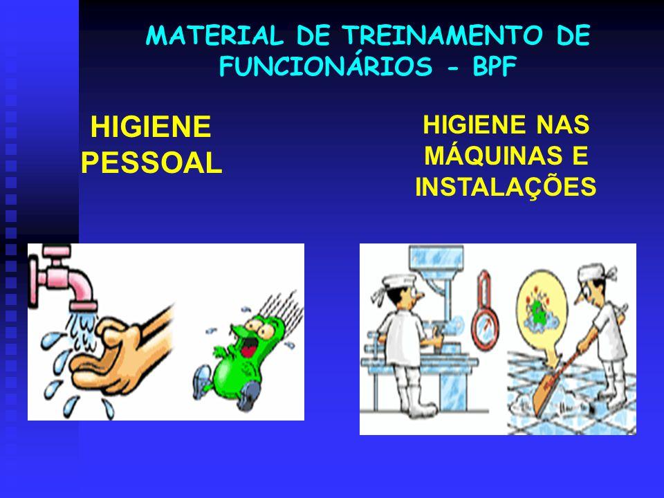 HIGIENE PESSOAL MATERIAL DE TREINAMENTO DE FUNCIONÁRIOS - BPF