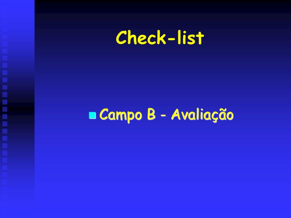 Check-list Campo B - Avaliação
