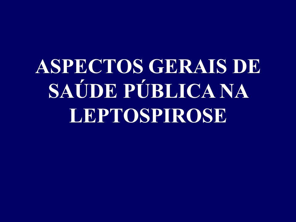ASPECTOS GERAIS DE SAÚDE PÚBLICA NA