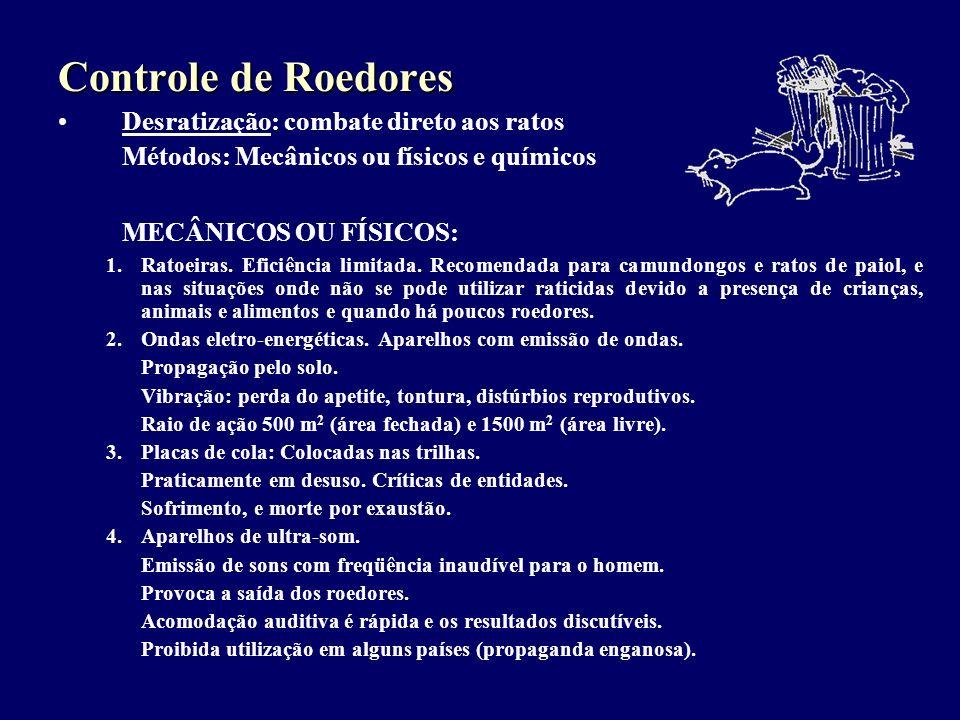 Controle de Roedores MECÂNICOS OU FÍSICOS: