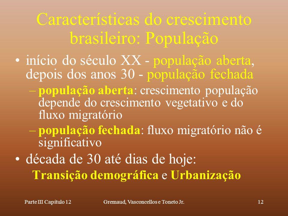 Características do crescimento brasileiro: População