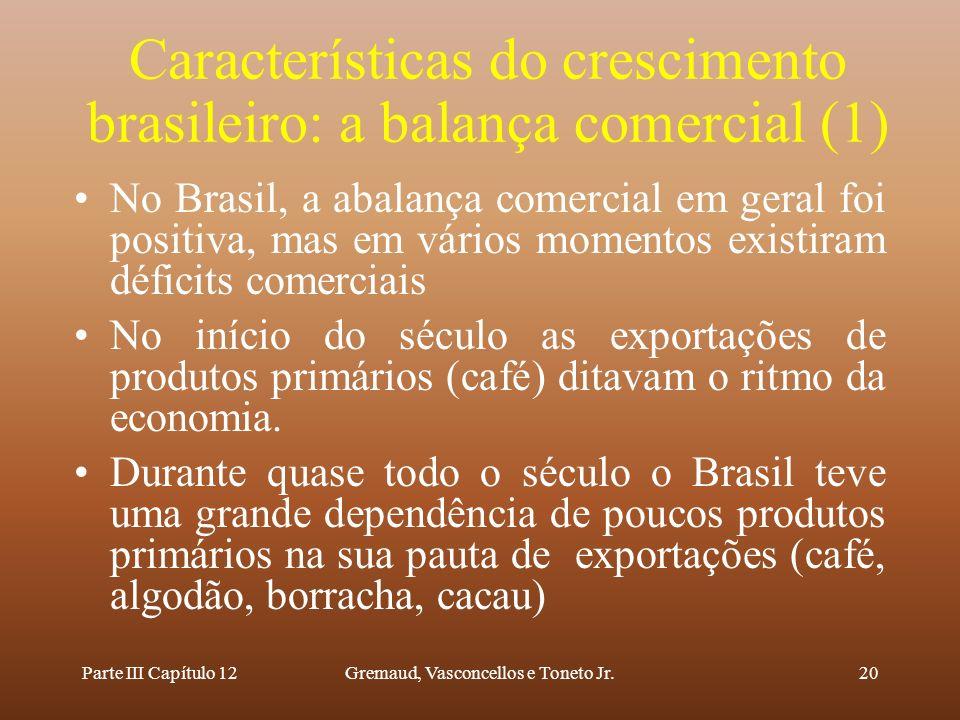 Características do crescimento brasileiro: a balança comercial (1)