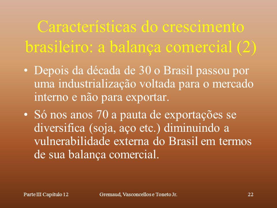Características do crescimento brasileiro: a balança comercial (2)