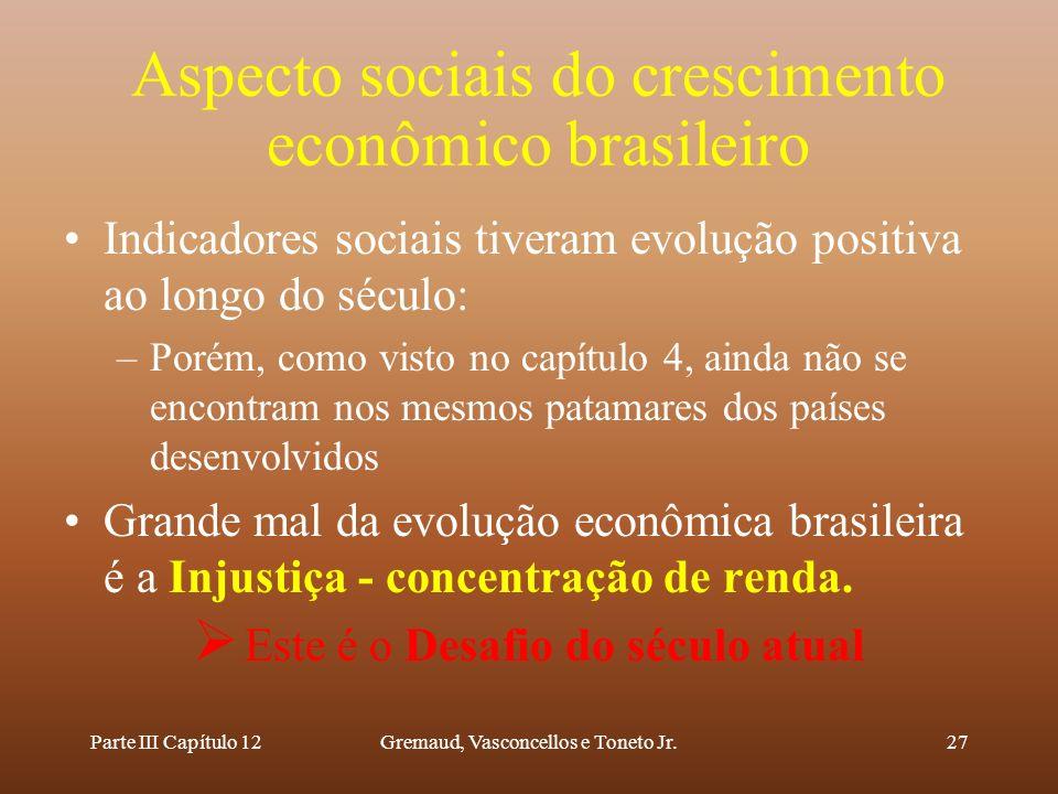 Aspecto sociais do crescimento econômico brasileiro