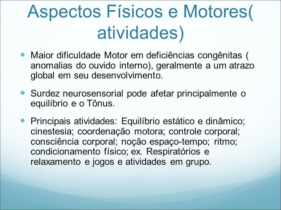 Aspectos Físicos e Motores( atividades)