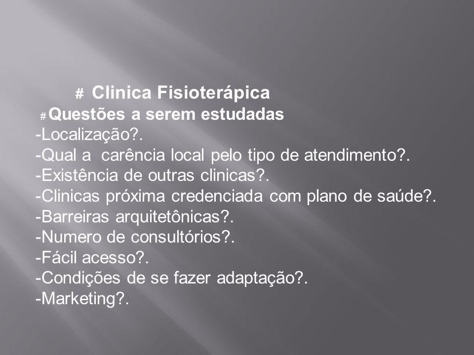 # Questões a serem estudadas -Localização .