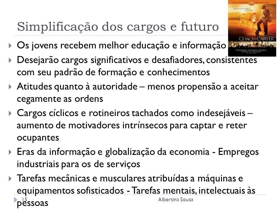 Simplificação dos cargos e futuro