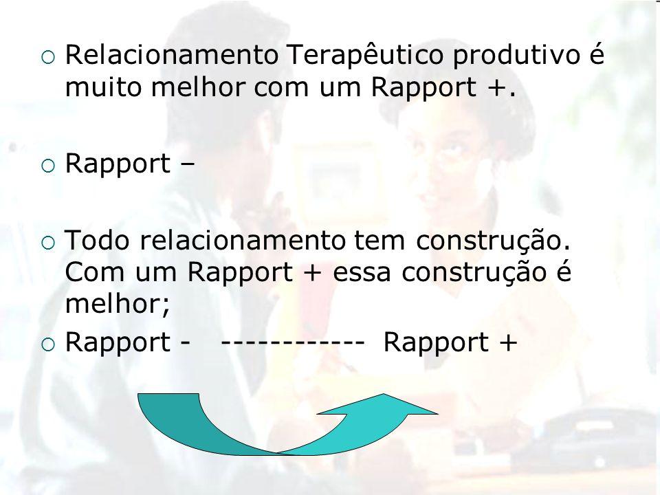 Relacionamento Terapêutico produtivo é muito melhor com um Rapport +.