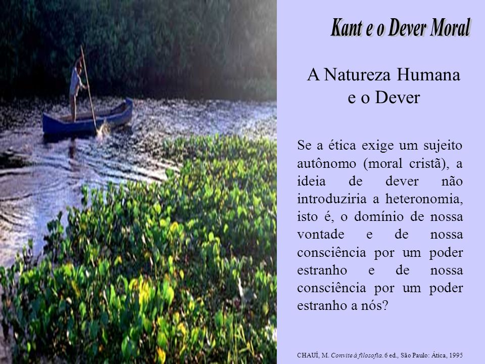 A Natureza Humana e o Dever