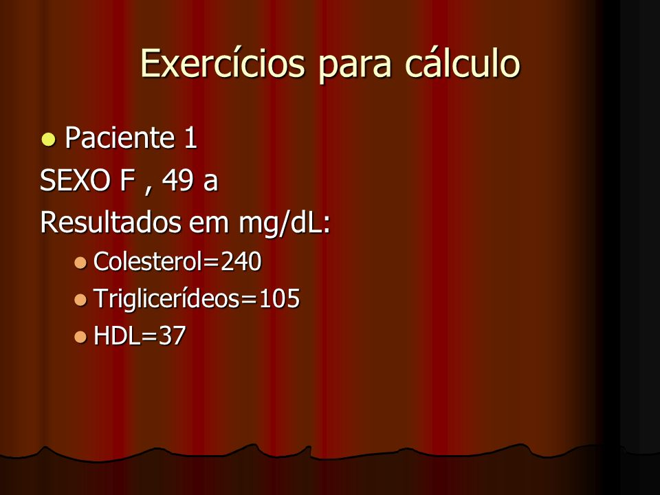 Exercícios para cálculo