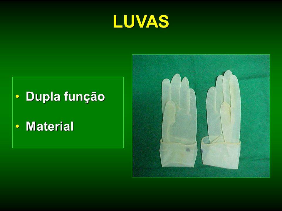 LUVAS Dupla função Material