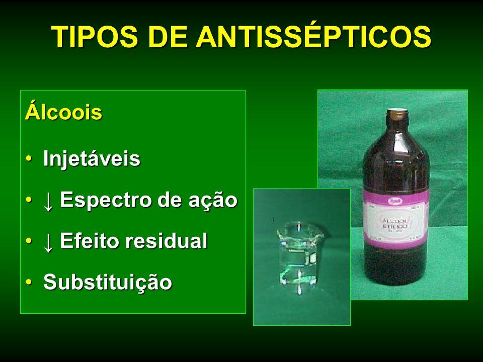 TIPOS DE ANTISSÉPTICOS
