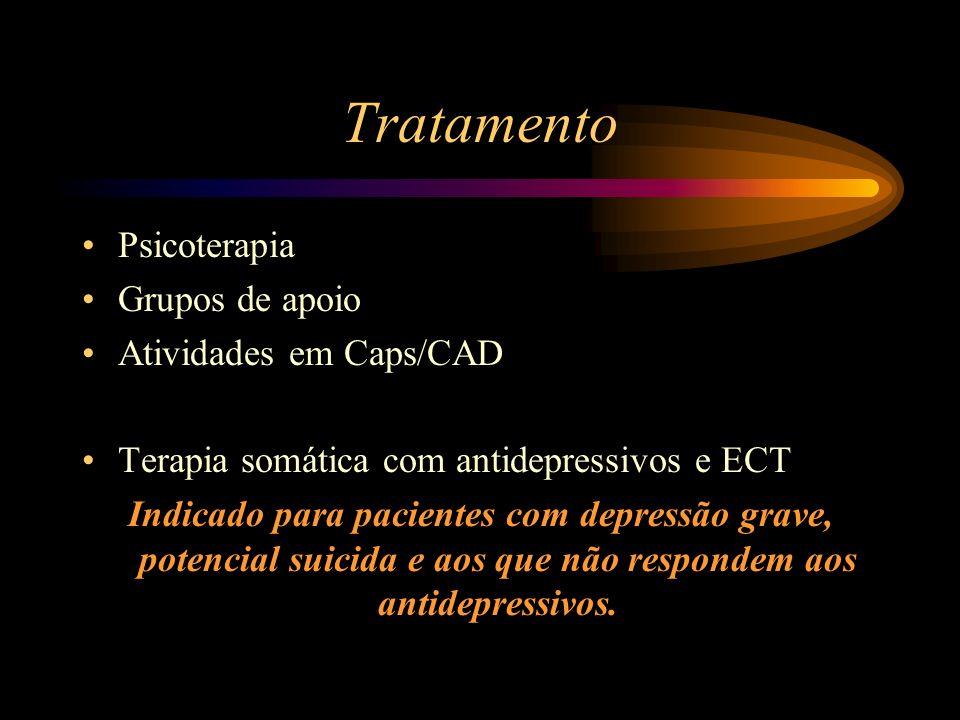 Tratamento Psicoterapia Grupos de apoio Atividades em Caps/CAD