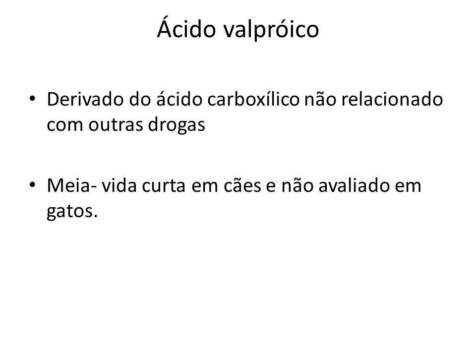 Ácido valpróico Derivado do ácido carboxílico não relacionado com outras drogas.