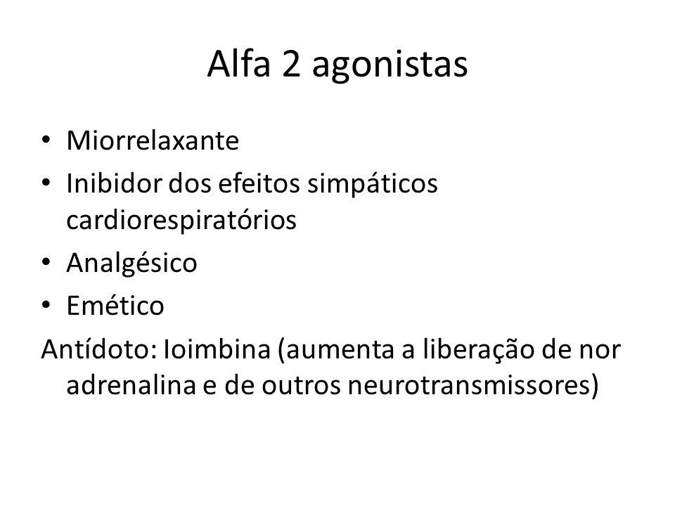 Alfa 2 agonistas Miorrelaxante