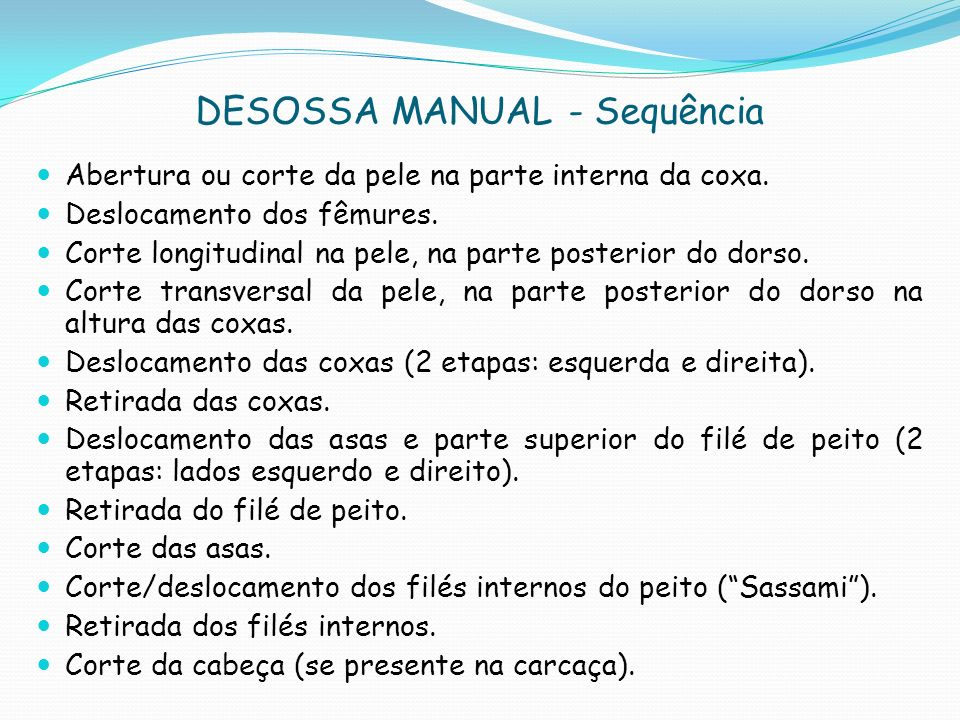 DESOSSA MANUAL - Sequência