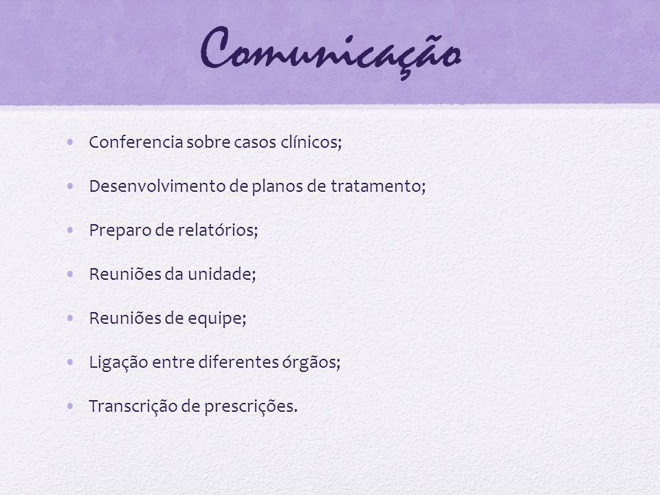 Comunicação Conferencia sobre casos clínicos;