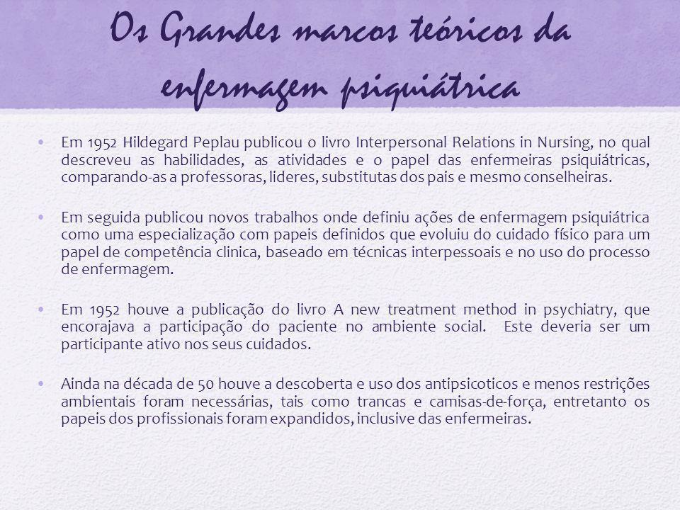 Os Grandes marcos teóricos da enfermagem psiquiátrica