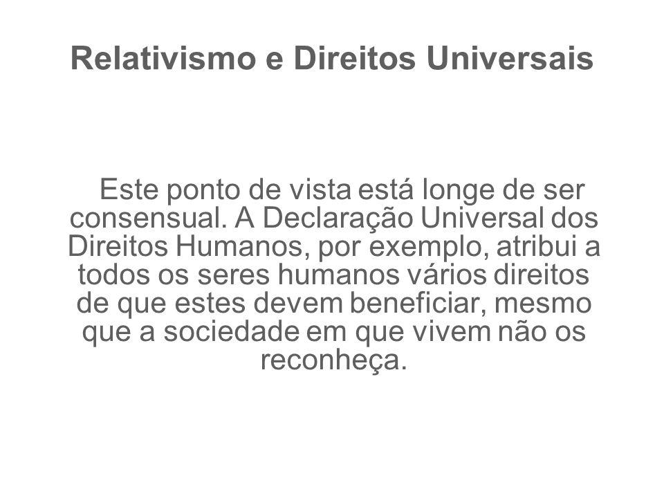 Relativismo e Direitos Universais