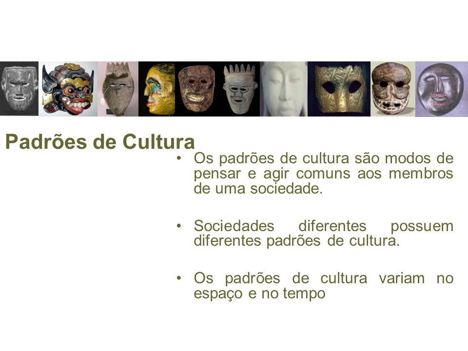 Padrões de CulturaOs padrões de cultura são modos de pensar e agir comuns aos membros de uma sociedade.