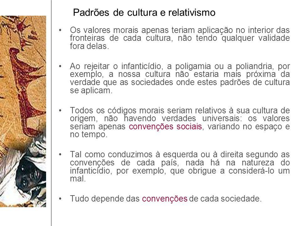 Padrões de cultura e relativismo