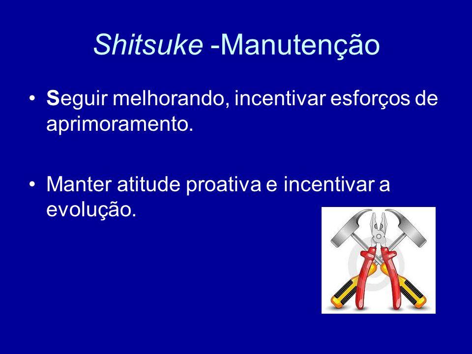 Shitsuke -Manutenção Seguir melhorando, incentivar esforços de aprimoramento.