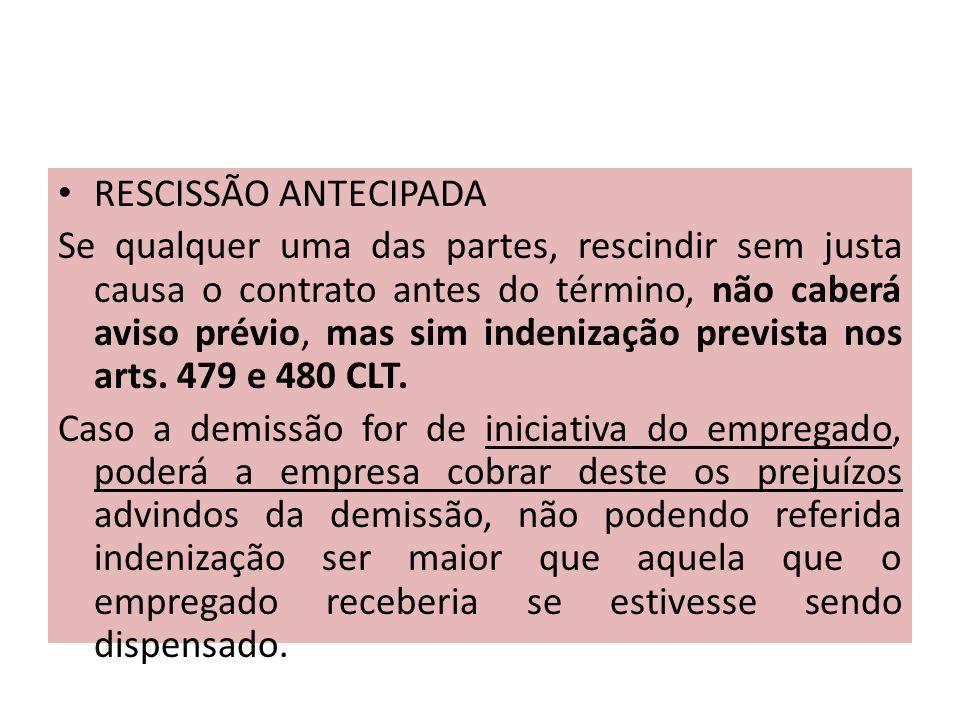 RESCISSÃO ANTECIPADA