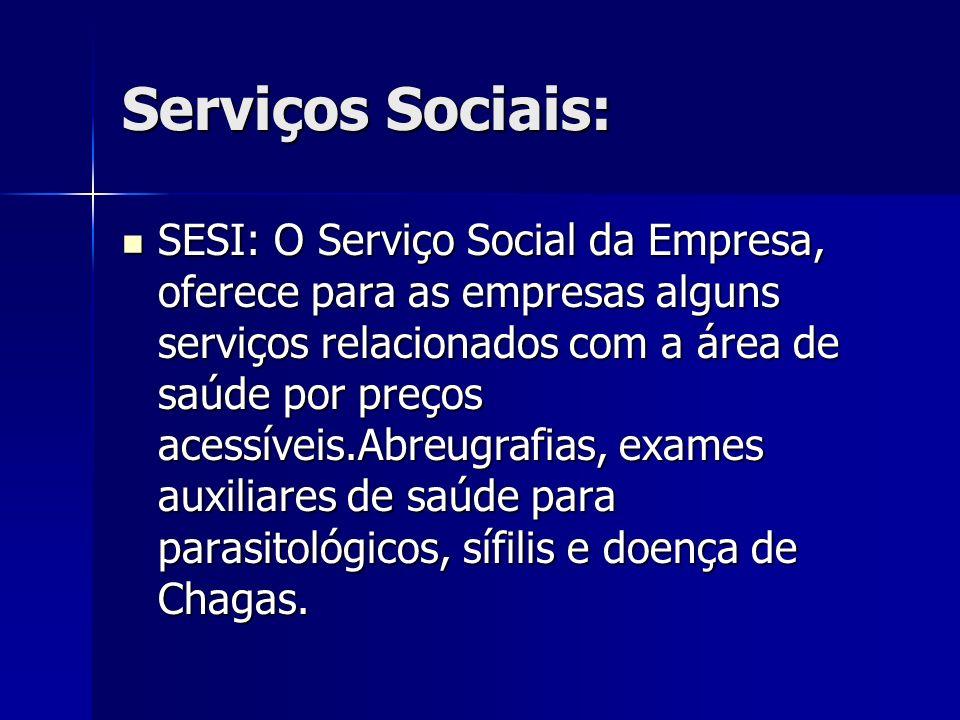Serviços Sociais: