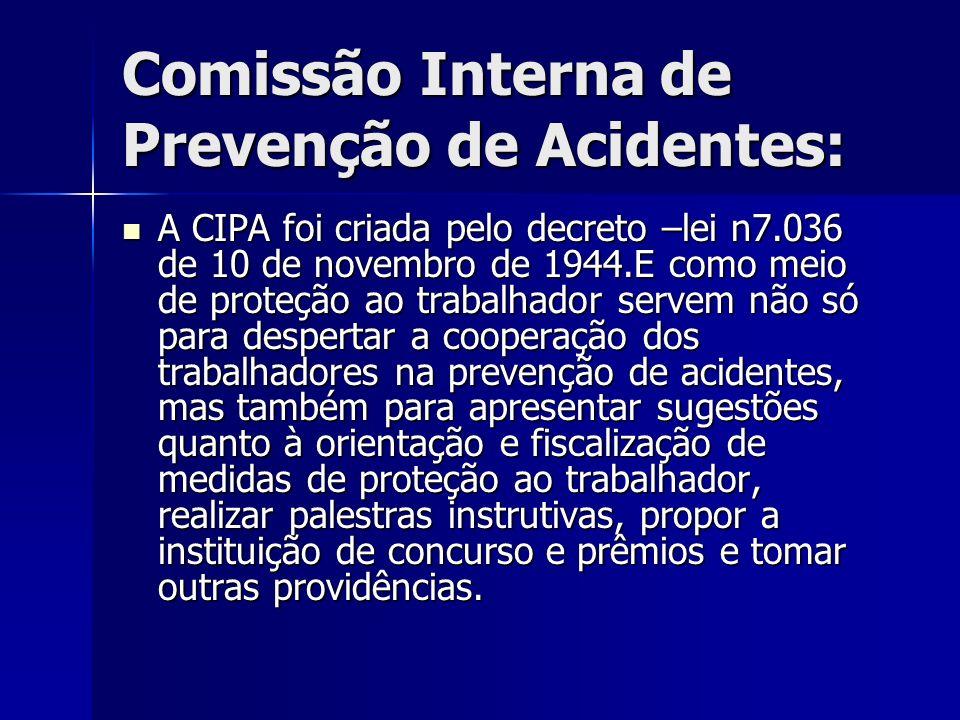 Comissão Interna de Prevenção de Acidentes:
