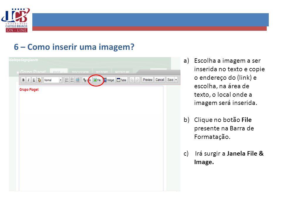 6 – Como inserir uma imagem