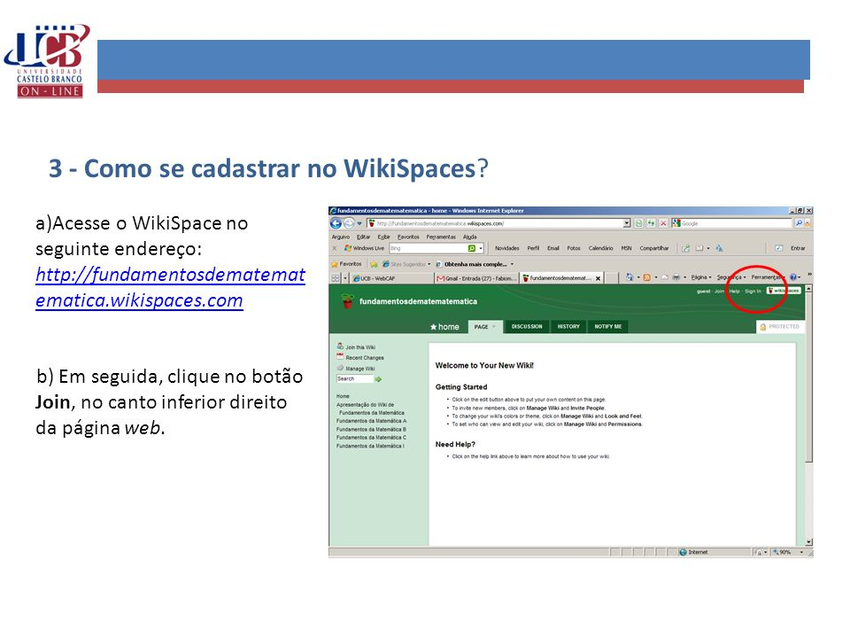3 - Como se cadastrar no WikiSpaces