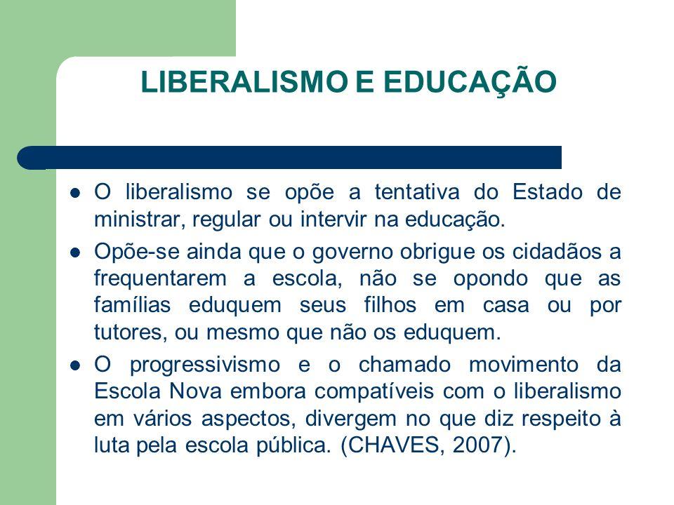 LIBERALISMO E EDUCAÇÃO