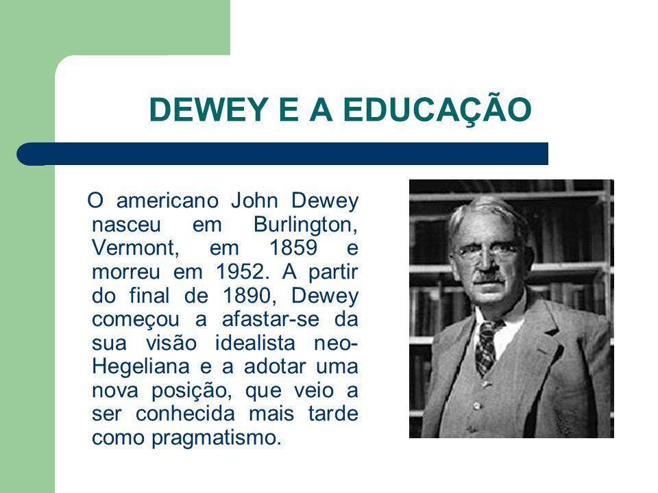 DEWEY E A EDUCAÇÃO