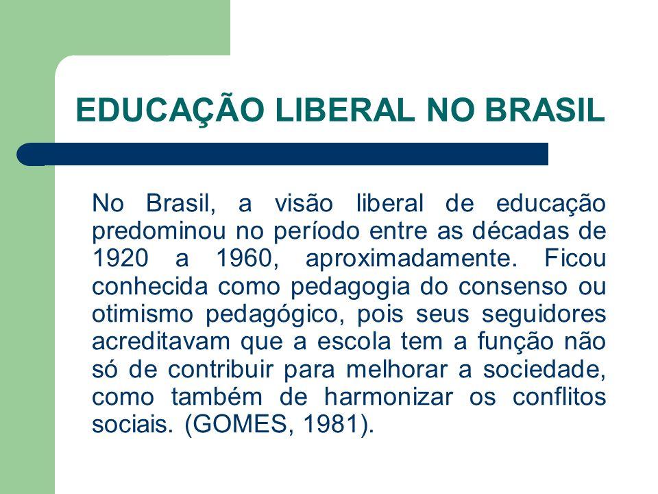 EDUCAÇÃO LIBERAL NO BRASIL