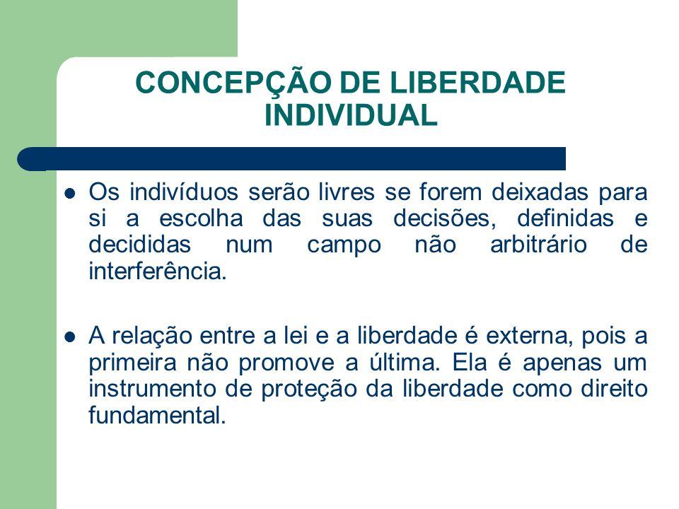 CONCEPÇÃO DE LIBERDADE INDIVIDUAL